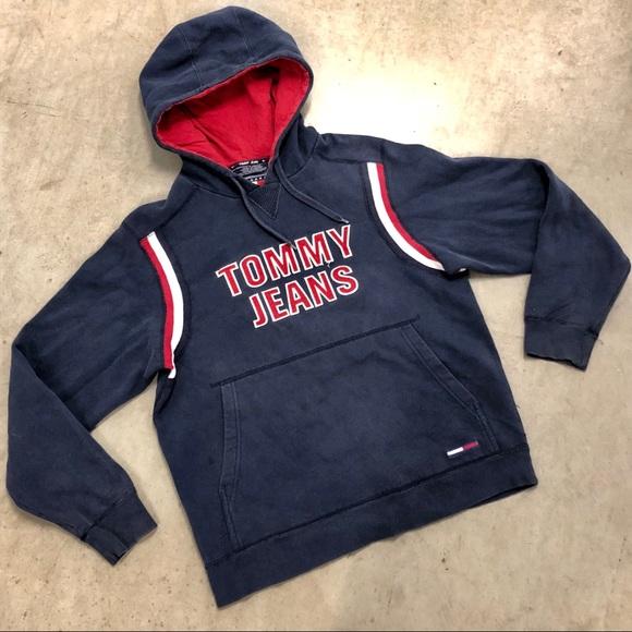 78c4ec5b Tommy Hilfiger Shirts | 90s Vintage Tommy Jeans Spell Out Flag Logo ...